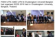 FSKM UiTM, AAEC UiTM & Chulalongkorn Universiti Bangkok had organised SCDS 2018 held in Chulalongkorn University, Bangkok, Thailand.
